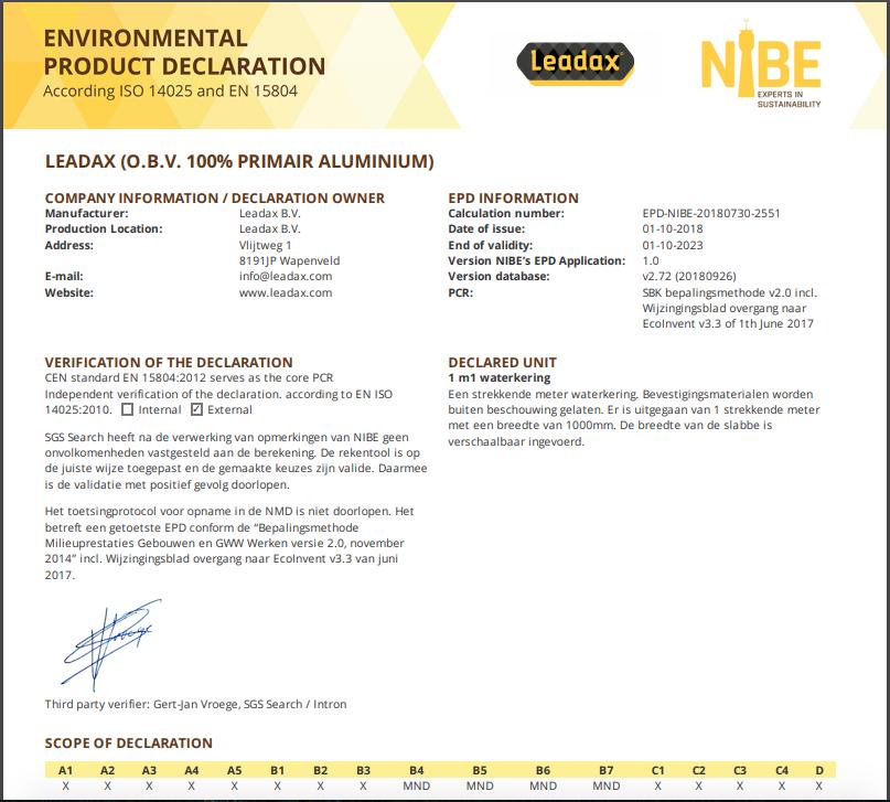 EPD-Leadax-LCA-NIBE