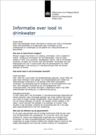 Informatie over lood in drinkwater