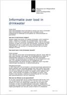 Informatie over lood in drinkwater
